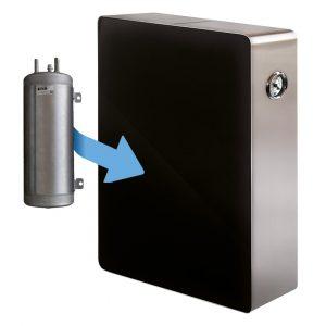 SENNA NERO/ACCIAIO GAS, depuratore acqua frizzante osmosi inversa 1